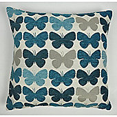 Mason Grey Graze Teal Cushion Cover - 43x43cm