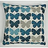 Mason Grey Graze Teal Cushion Cover - 43x43cm