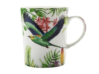 Maxwell & Williams Cashmere Birds of Paradise Mug Cup WHITE 330ml