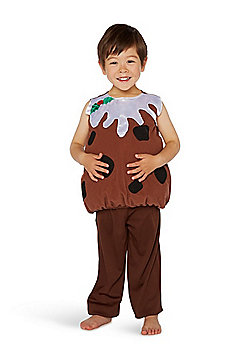 F&F Christmas Pudding Fancy Dress Costume - Brown