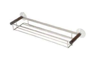Möve Combo Metals Shower Rack in Walnut