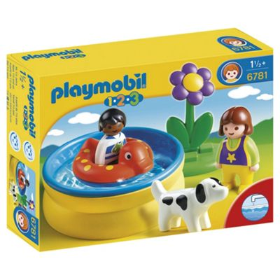 Playmobil 123 Children with Paddling Pool 6781