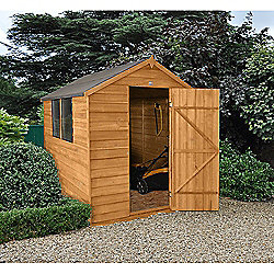 Forest Garden 8x6 Overlap Dip Treated Apex Shed