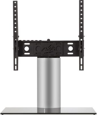 AVF Adjustable Tilt and Turn Table Top Stand For Upto 55 inch TVs - Black and Silver