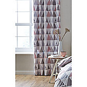 Catherine Lansfield Scandi Geo Eyelet Curtains - Pink