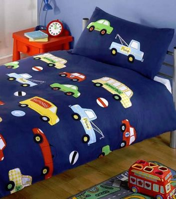 Transport, Cars, Vans and Trucks Single Bedding