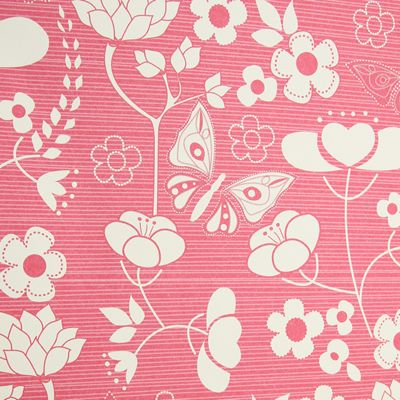 Rosehip Gift Wrap - Pink Mono Flowers