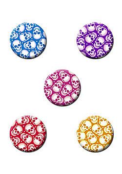 Skull Colours Badge Pack - Multi