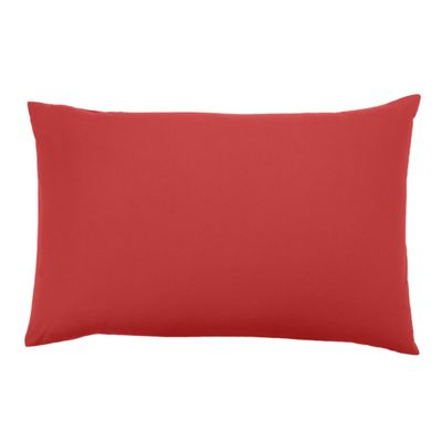 Homescapes Red Continental Rectangular Pillowcase 100% Egyptian Cotton Pillow Cover 200 TC, 40 x 80 cm