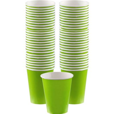 Lime Green Coffee Cups - 340ml - 40 Pack