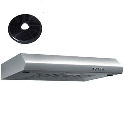 SIA ST60SS 60cm Visor Stainless Steel Cooker Hood Extractor + Charcoal Filter