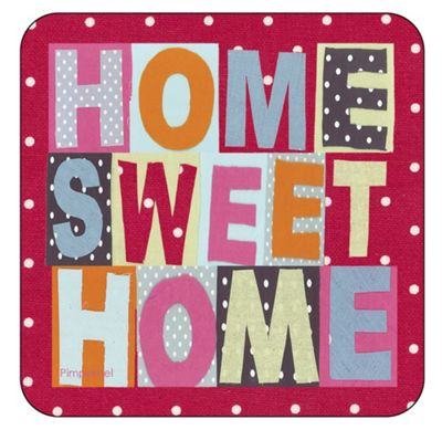 Pimpernel Home Sweet Home Coasters Set of 6