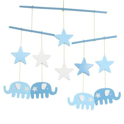Blue Elephant Baby Mobile