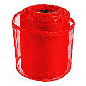 Ribbon Organza sheer Fabric - Red - 20yards