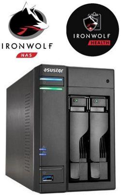 Asustor AS6102T/12TB-IW 2-Bay 12TB(2x6TB Seagate IronWolf) 4K Playback Multimedia NAS