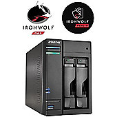 Asustor AS6102T/12TB-IW 2-Bay 12TB(2x6TB Seagate IronWolf) 4K Playback Multimedia NAS