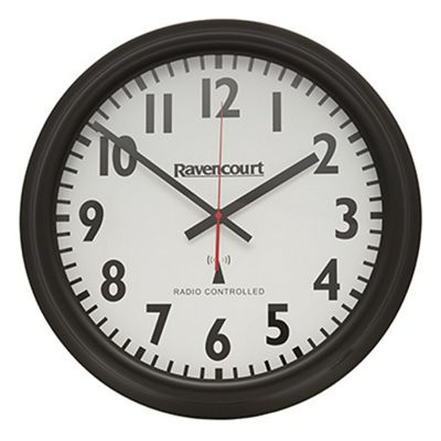 buy large radio controlled easy to see wall clock from our. Black Bedroom Furniture Sets. Home Design Ideas