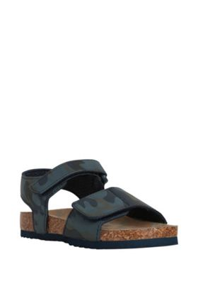 F&F Camo Print Moulded Footbed Sandals Navy/Multi Child 5