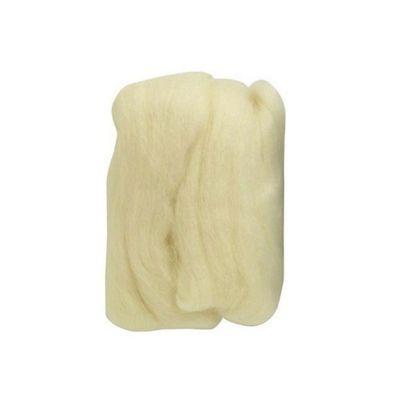 Impex Natural Wool Roving White 50 Grams