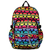 Chok Multi coloured Skulls Black Backpack