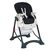 Homcom Highchair Baby Toddler Foldable Feeding Compact Safety Belt - Black