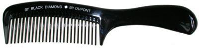 Black Diamond Handle Rake Grooming Hair Comb 220mm