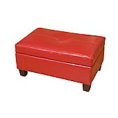 Sofa Collection Isla Storage Footstool - Red