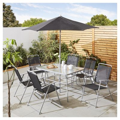 tesco hawaii metal garden furniture 8 piece set - Garden Furniture Metal
