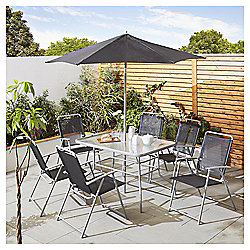 tesco hawaii metal garden furniture 8 piece set - Rattan Garden Furniture Tesco