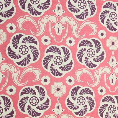 Rosehip Gift Wrap - Pink and Purple Spiral Flowers