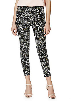 F&F Jungle Print Mid Rise Skinny Trousers - Green