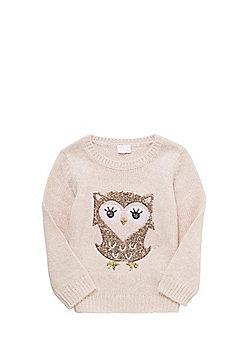 F&F Sequin Owl Jumper - Pink