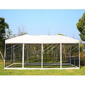 Outsunny 3 x 6 m Garden Wedding Pop-Up Gazebo