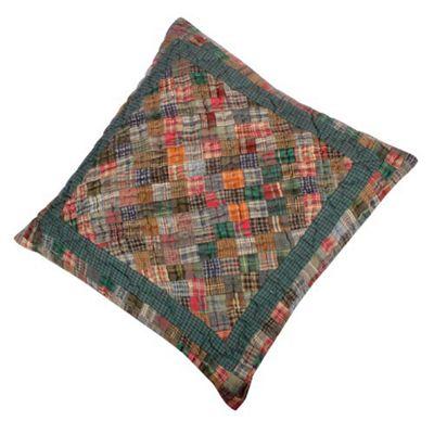 Woven Magic 11733 Patch Quilts Dark Plaids Cushion