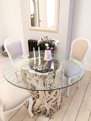 1 2m Java Root Dining Table Tableonly