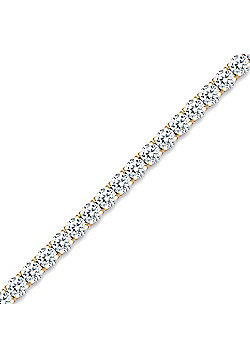 Gilded Sterling Silver Cubic Zirconia Claw set Tennis Bracelet