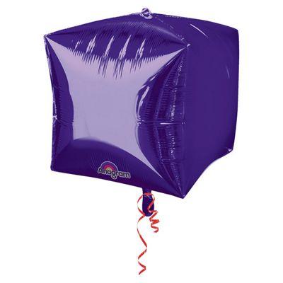 Cubez Purple Cube Shaped Balloon - 24 inch Foil