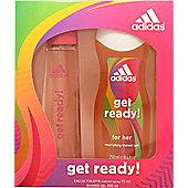 Adidas Get Ready! For Her Gift Set 75ml EDT + 250ml Shower Gel For Women