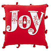 Tesco Christmas Joy Cushion
