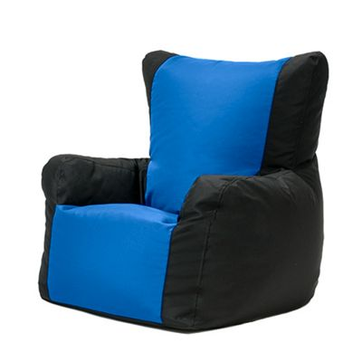 Black / Blue Water Resistant 'Layla' Outdoor Bean Bag Arm Chair