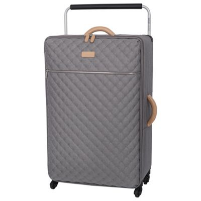 Buy IT Luggage Tritex Quilted 4 wheel Grey Large Suitcase from our ...