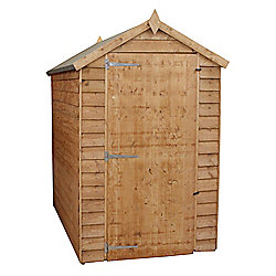 Mercia Windowless Overlap Apex Wooden Shed, 6x4ft