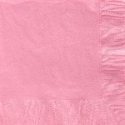 Baby Pink Dinner Napkins - 2ply Paper - 50 Pack
