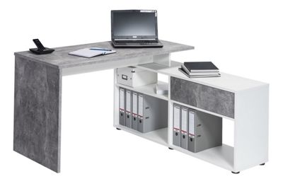Maja 4019 9139 Clifton Office Desk - Concrete/White
