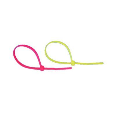 100Pack Self-Lock Cable Waterproof Tie Wrap 142mm Yellow