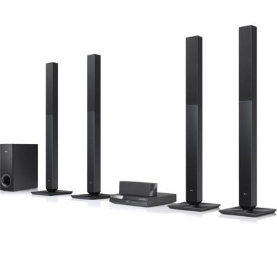 LG - LG 850 Wattage 5.1 Channel 4 Tall Speakers