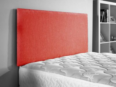 ValuFurniture Doll Chenille Fabric Headboard - Red - Single 3ft
