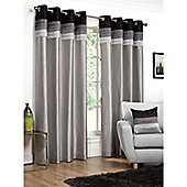 Hamilton McBride Seattle Lined Ring Top Curtains - Black