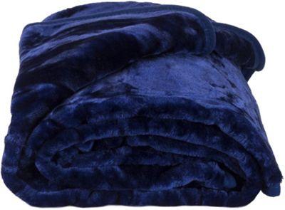 Faux Fur Blue Mink Throw Soft Warm Blanket 200 x 240cm