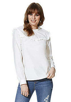 Vero Moda Ruffle Detail Blouse - White